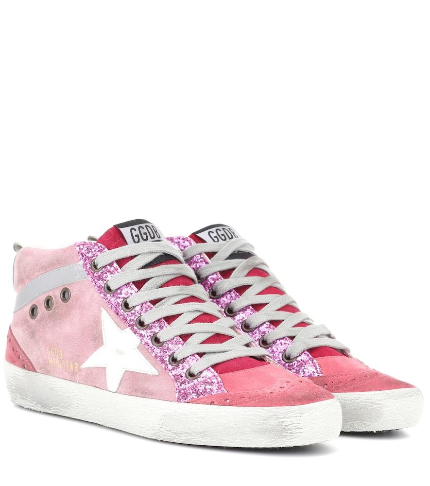 Mid Star Pink Suede Sneakers