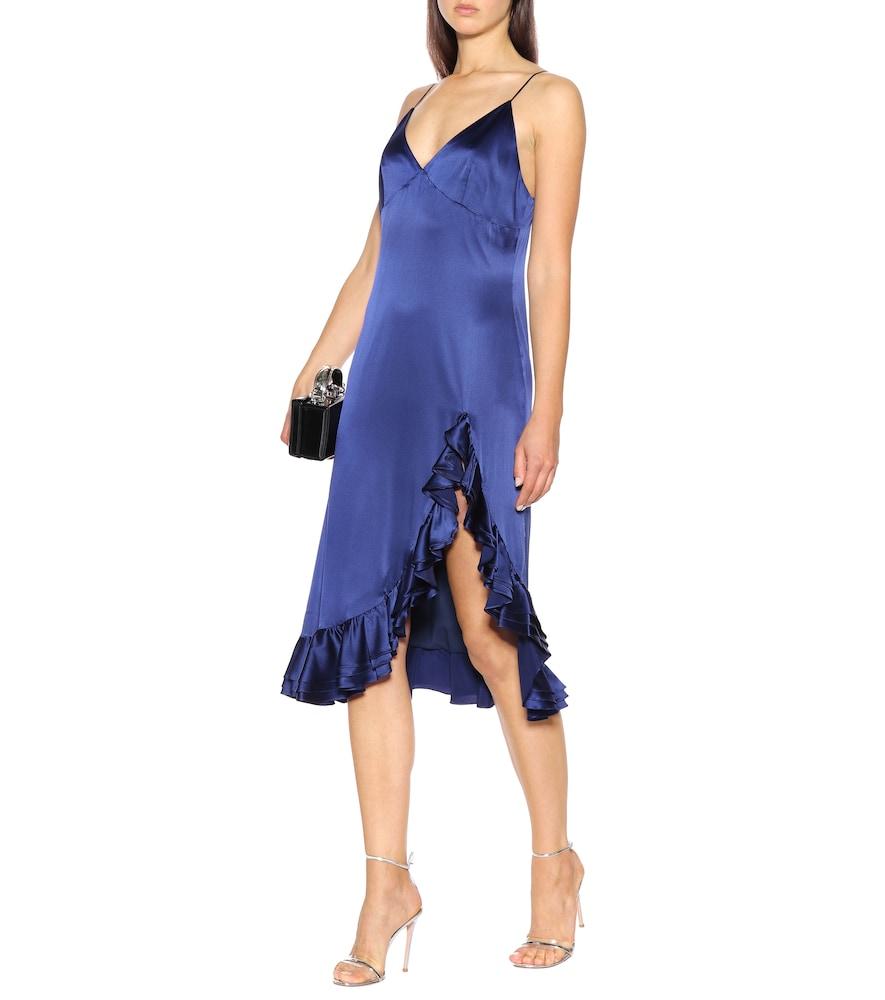 Elvira silk slip dress by Caroline Constas