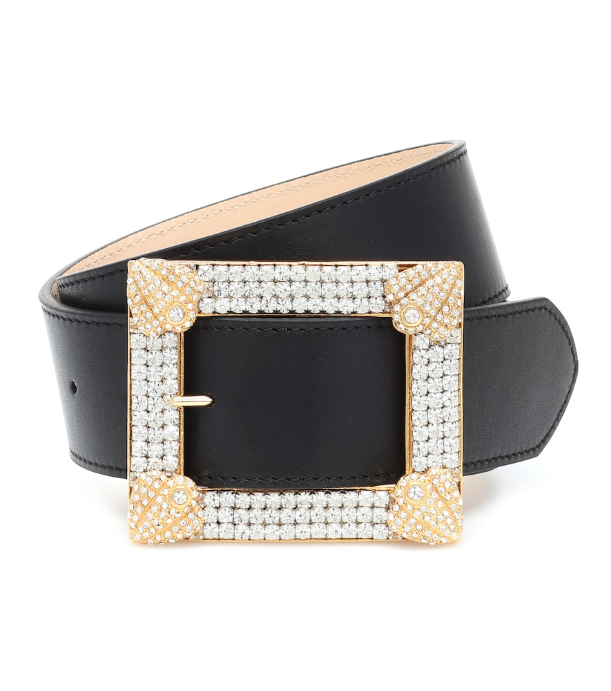 Alessandra Rich Belts EMBELLISHED LEATHER BELT