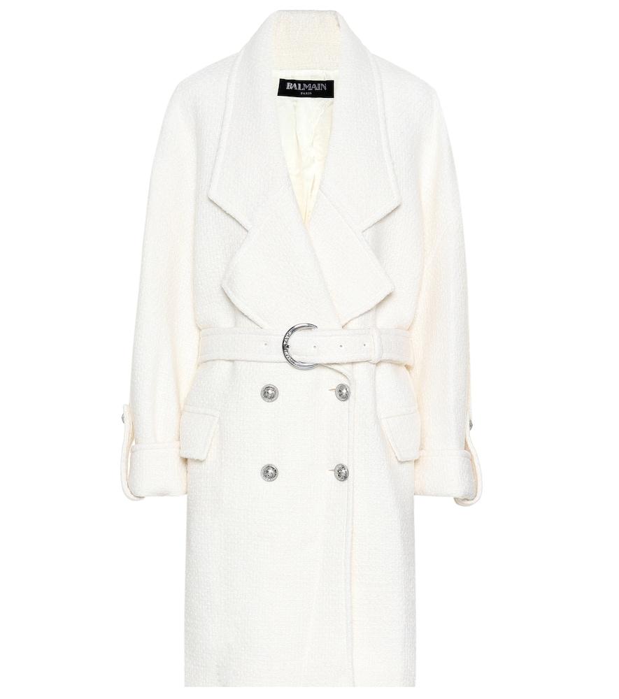 Wool-blend coat by Balmain