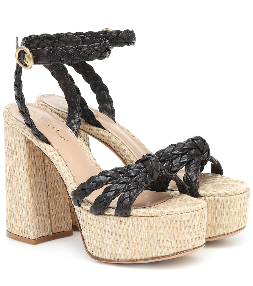 Kea leather platform sandals