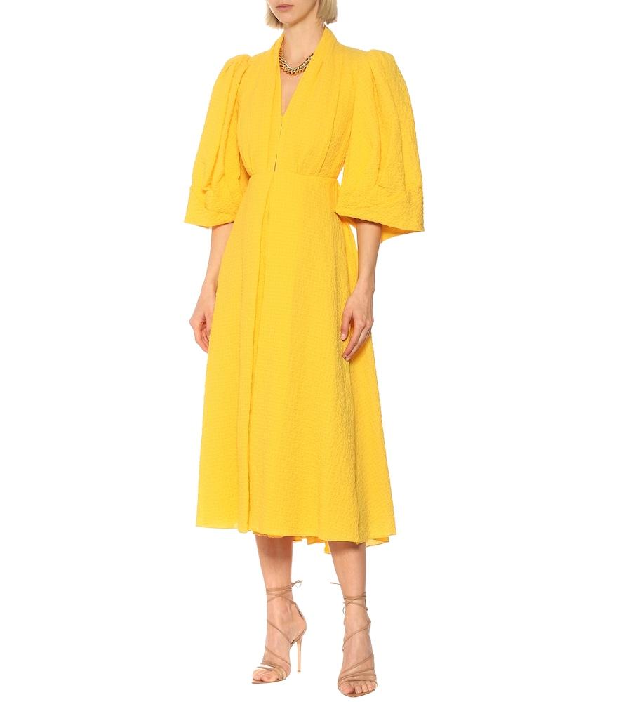 Deva open-back cotton gown by Emilia Wickstead