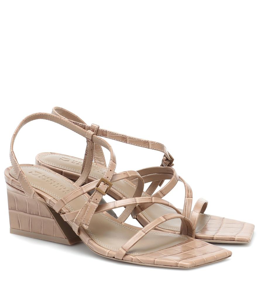 Kelise croc-effect leather sandals