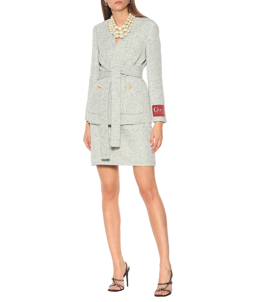 Tweed cotton-blend jacket by Gucci