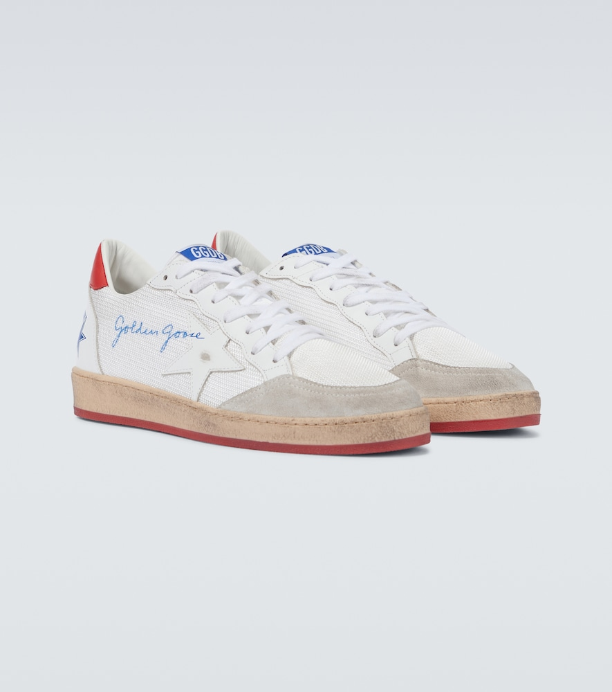 GOLDEN GOOSE Leathers BALL STAR NET SNEAKERS