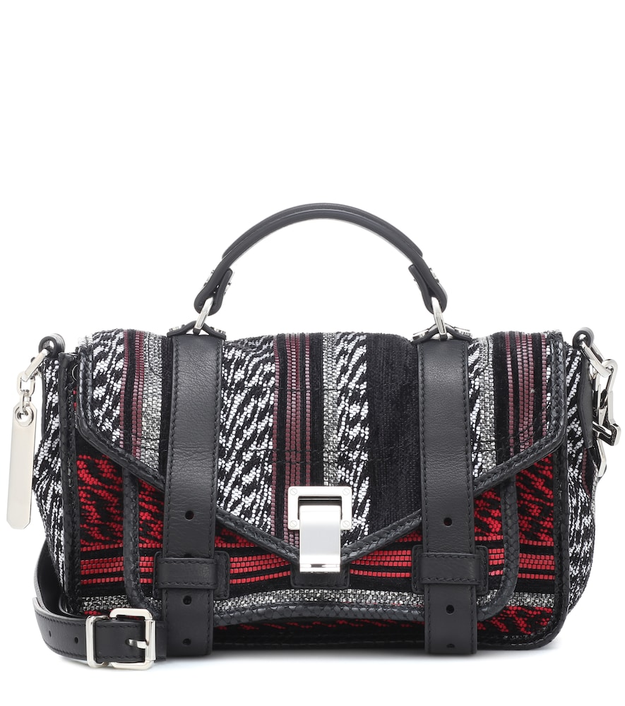 Proenza Schouler Ps1 Tiny Leather Shoulder Bag In Multicoloured ... 9f32205d37