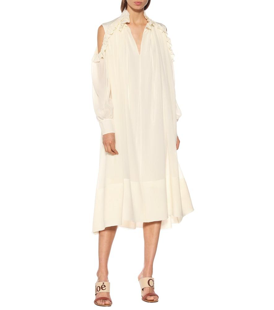 Silk georgette dress by Chloé