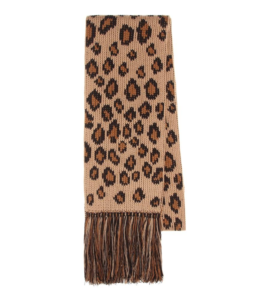 Écharpe intarsia en laine et cachemire