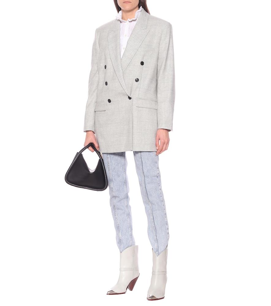 Eagan checked wool-blend blazer by Isabel Marant, Étoile
