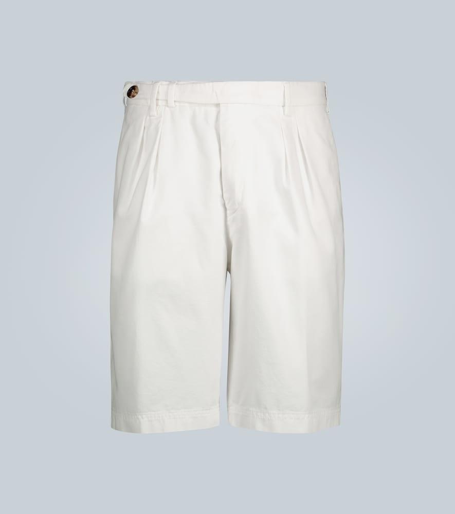 Cotton knee-length shorts
