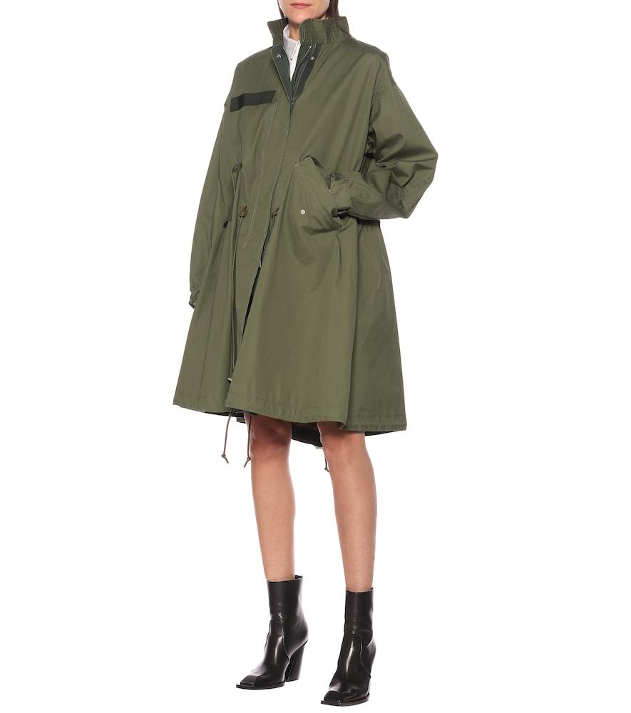 Cotton oxford coat by Sacai
