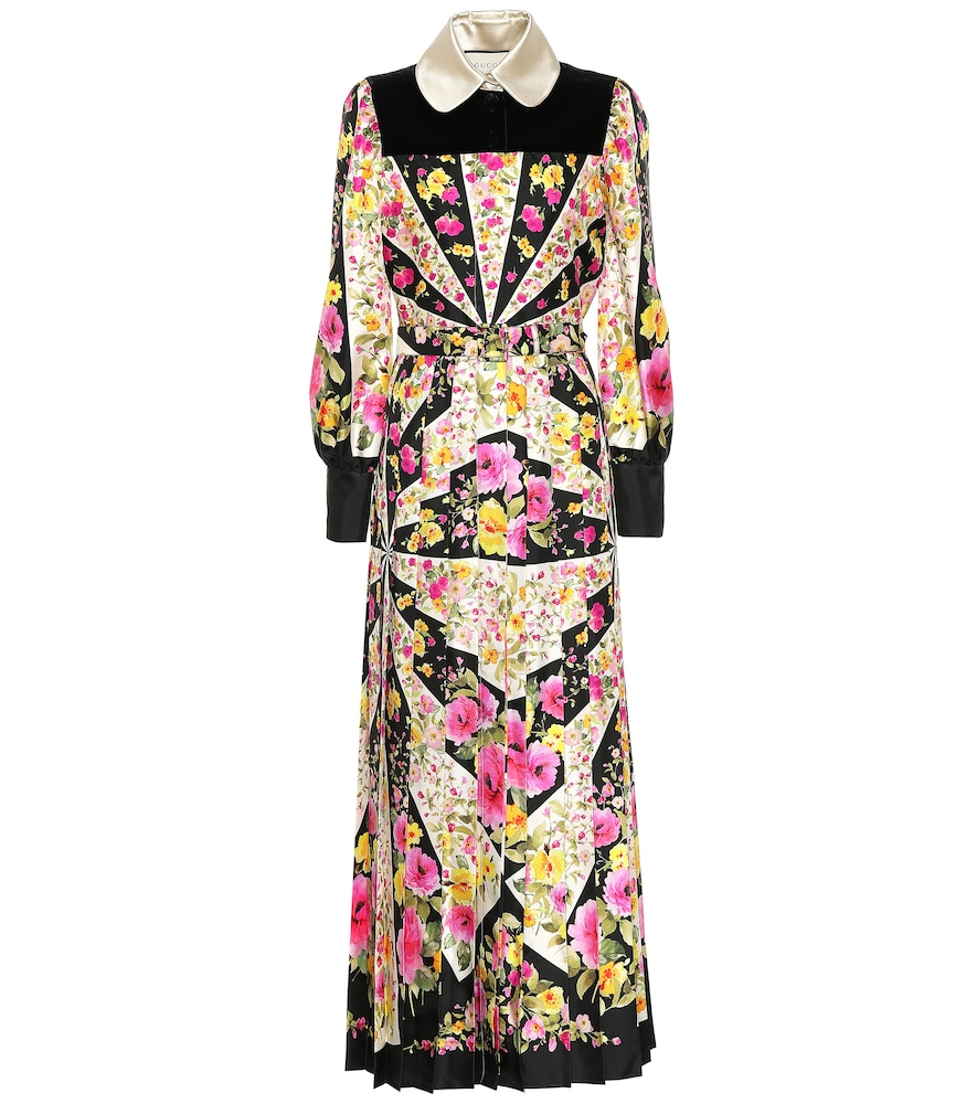 GUCCI FLORAL SILK DRESS
