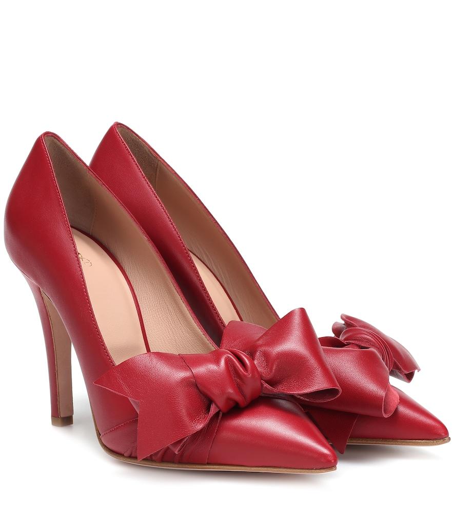 RED V Red (V) Leather Pumps