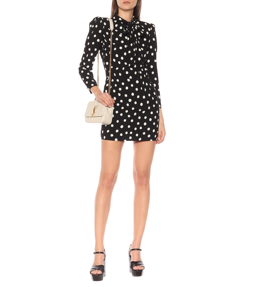 Dotted minidress by Saint Laurent