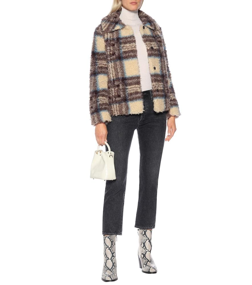 Erica plaid faux fur jacket by Velvet