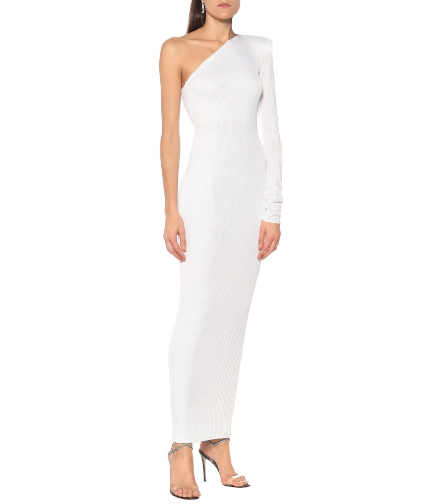 Exclusive to Mytheresa - Ribbed lamé gown by Alexandre Vauthier