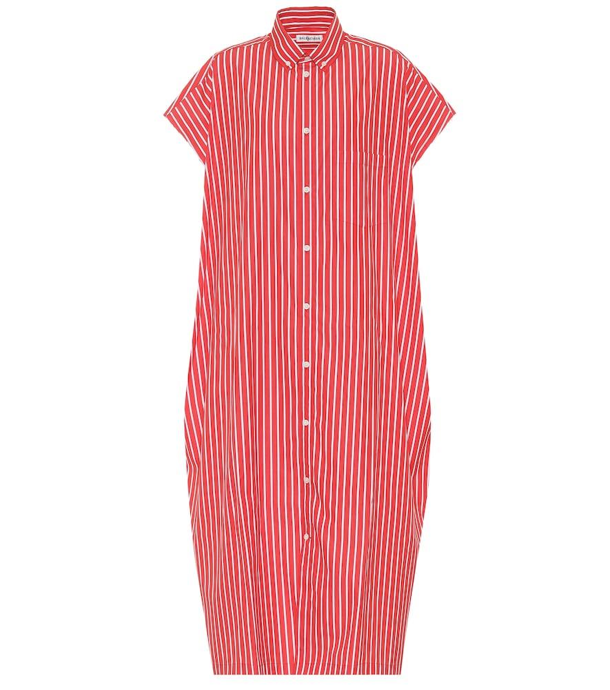 Striped cotton shirt dress by Balenciaga
