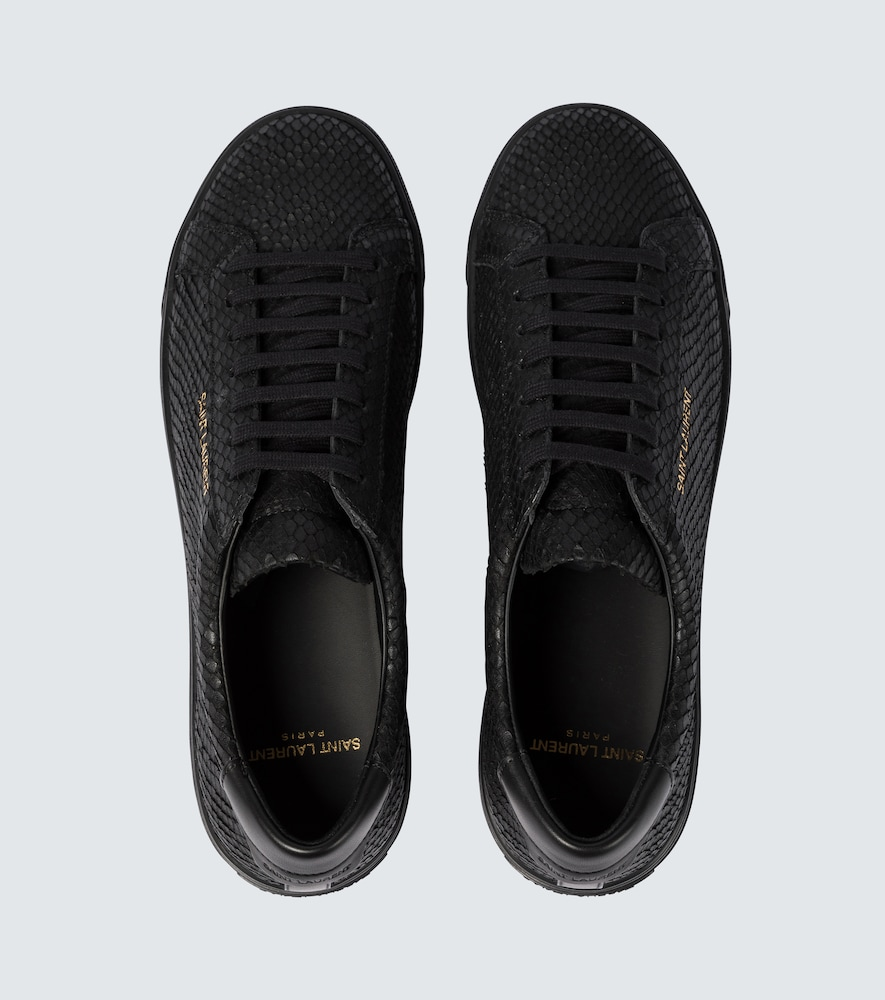 SAINT LAURENT Leathers ANDY LEATHER TENNIS SNEAKERS