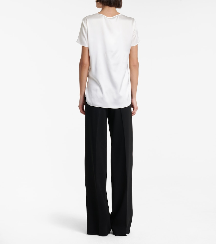 MAX MARA Silks CORTONA STRETCH-SILK T-SHIRT
