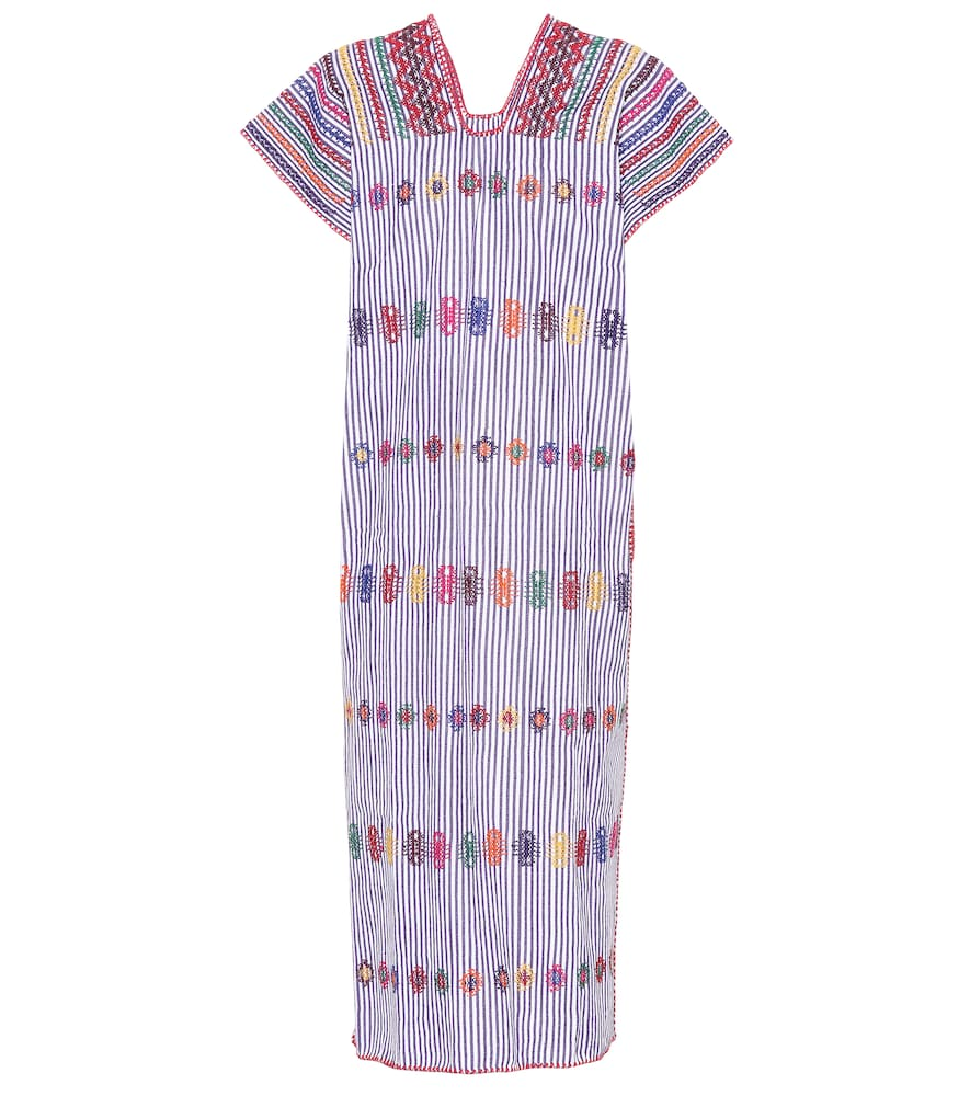 PIPPA HOLT No. 73 Embroidered Cotton Kaftan in Multicoloured