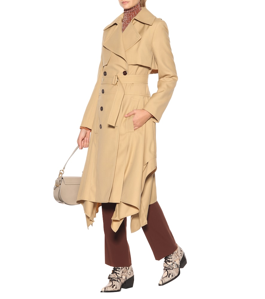 Wool trench coat by Chloé