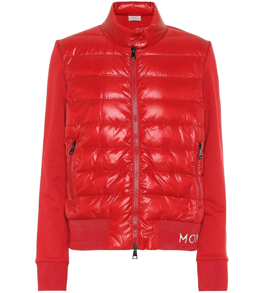 Cotton-jersey down jacket