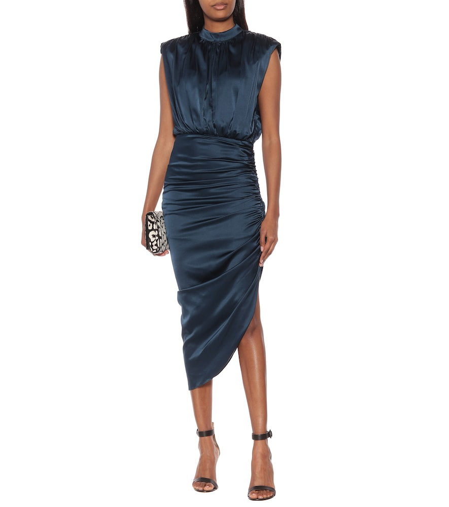Kendall stretch-silk midi dress by Veronica Beard