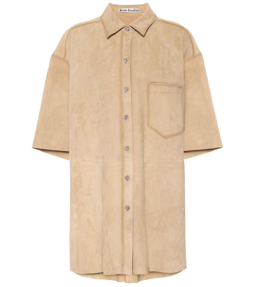 Acne Studios Oversized suede shirt