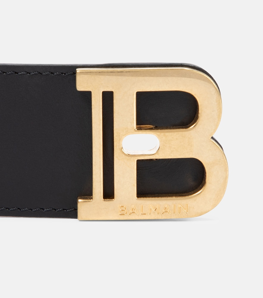 BALMAIN Jewelrys B-TWIST LEATHER CUFF BRACELET