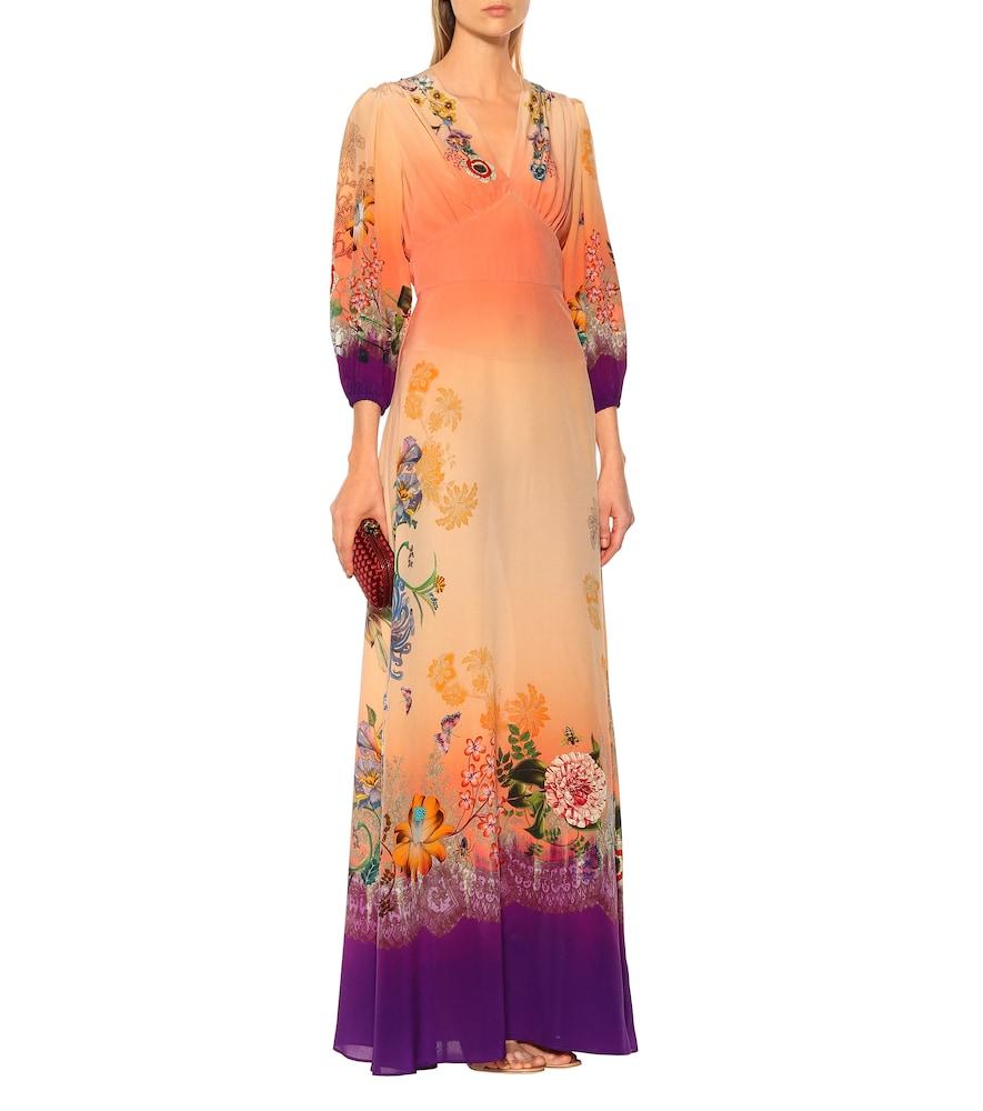Printed silk crêpe maxi dress by Etro