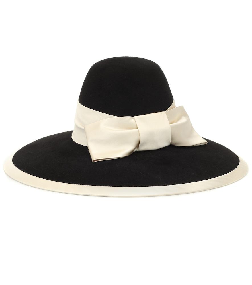 Chapeau en feutre et satin - Gucci - Modalova