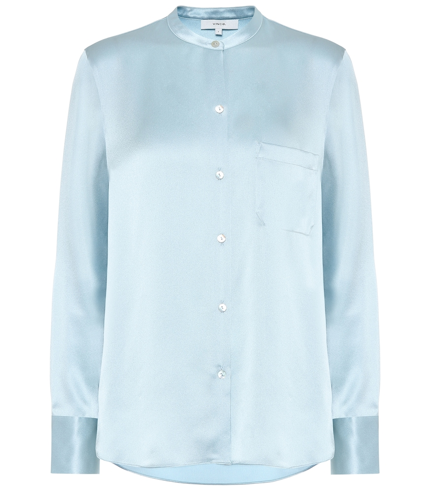 Vince T-shirts SILK-SATIN SHIRT