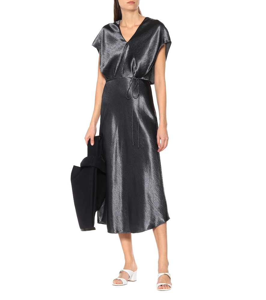 Hammered-satin dress by Vince