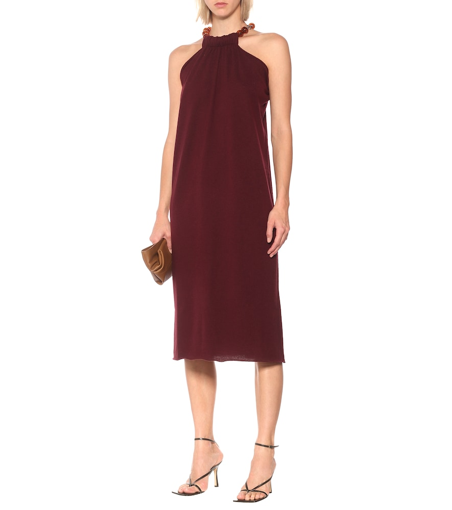 Halterneck wool and cashmere dress by Jil Sander