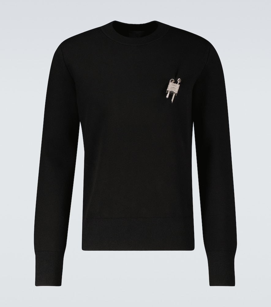 Givenchy Sweaters LOVE LOCK CREWNECK SWEATER