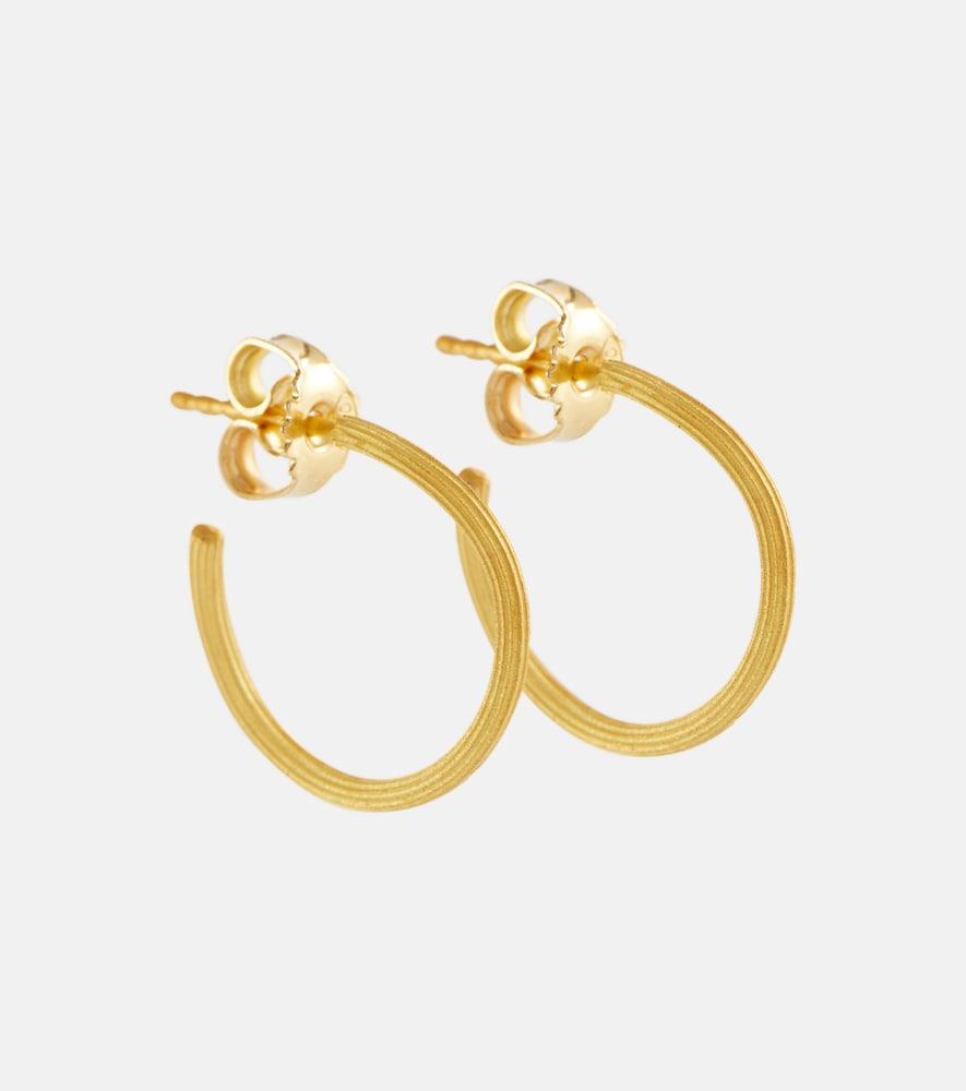 String 18kt gold hoop earrings