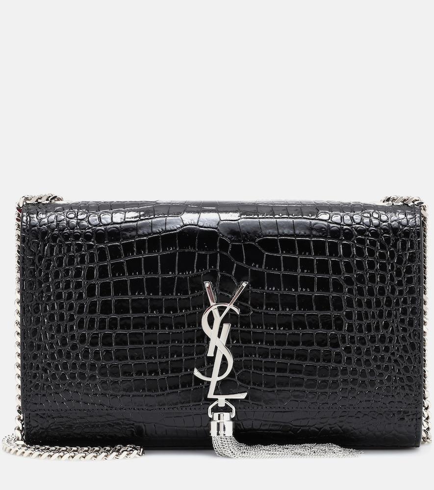 SAINT LAURENT | Medium Kate Tassel Embossed Leather Shoulder Bag | Goxip