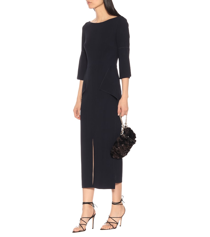 Crane stretch crêpe midi dress by Roland Mouret
