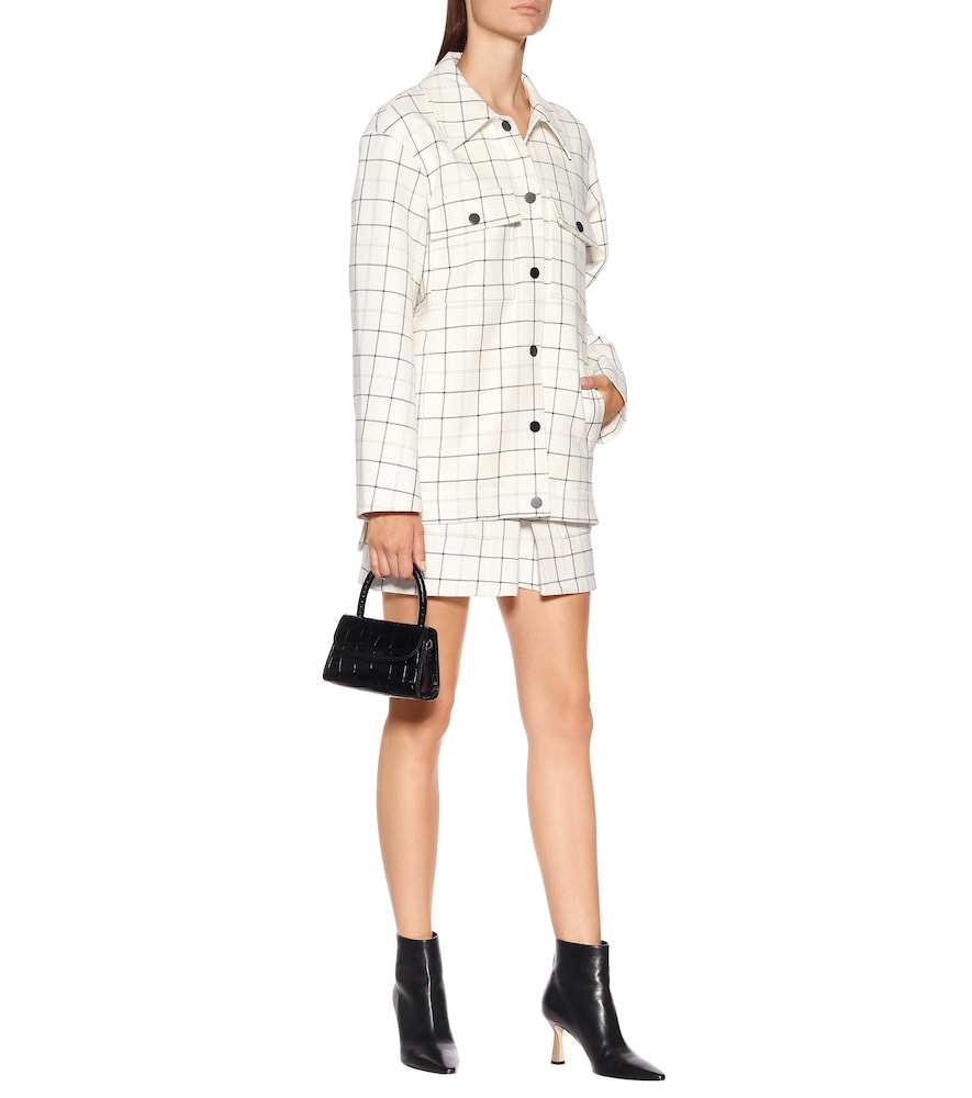 Windowpane Workmen checked coat by Tibi