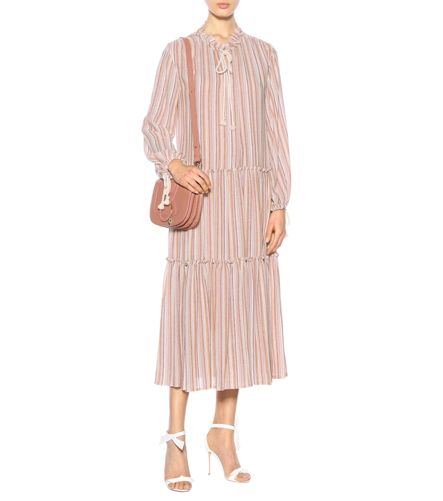 Striped wool-blend dress by See By Chloé