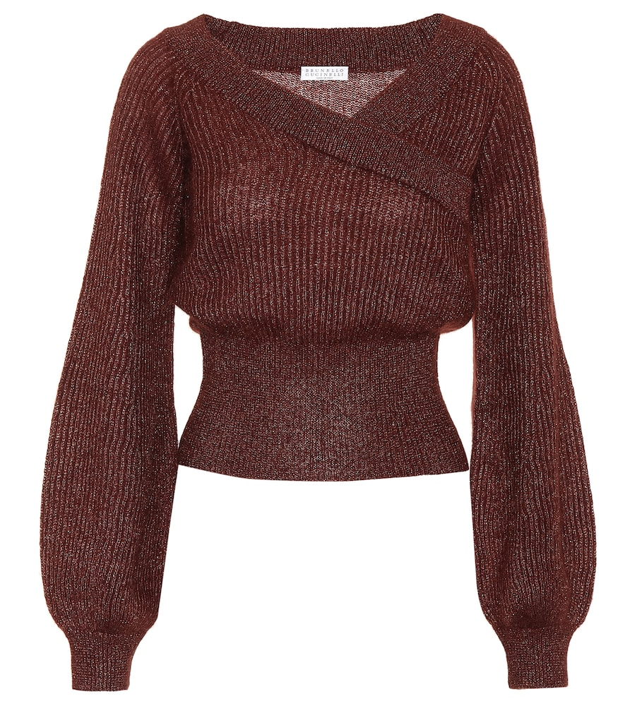 MOHAIR AND ALPACA-BLEND SWEATER