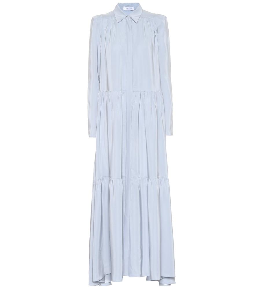 Robe longue en soie
