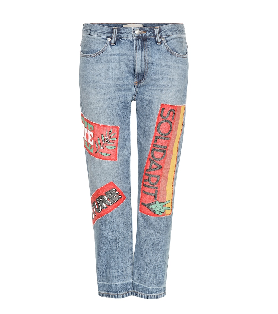 MARC BY MARC JACOBS PATCHWORK STRAIGHT-LEG JEANS