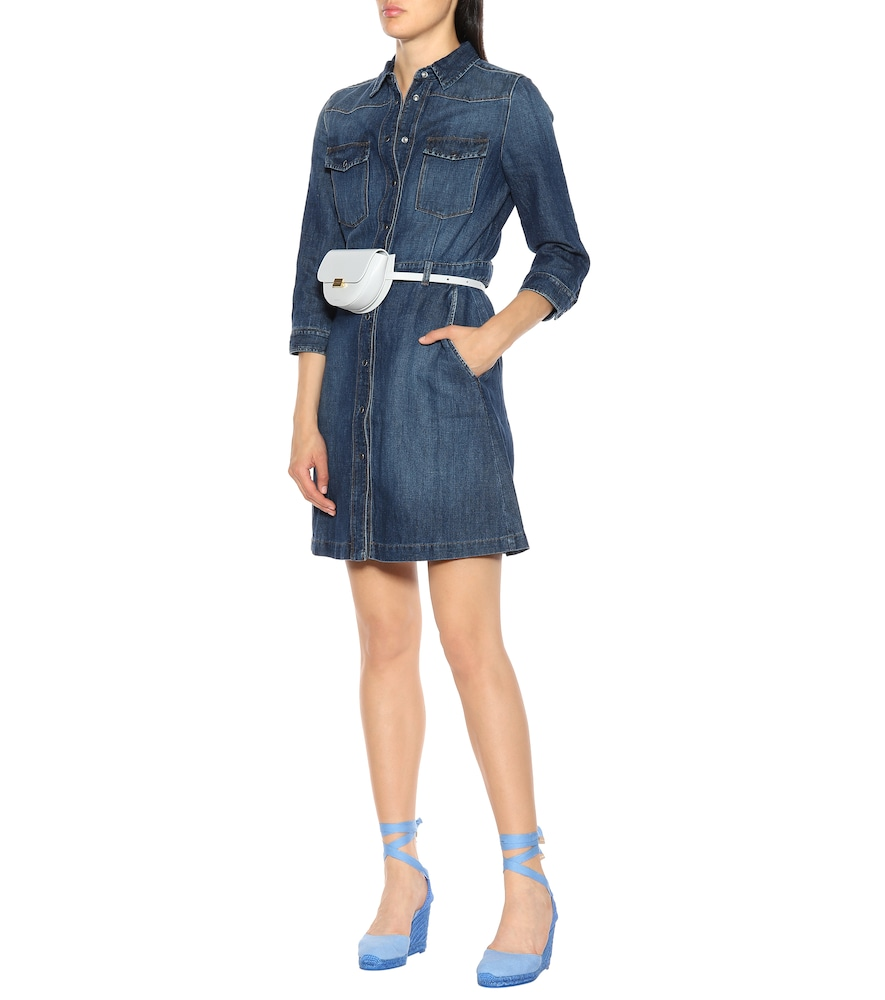 Victoria denim shirt dress by 7 For All Mankind