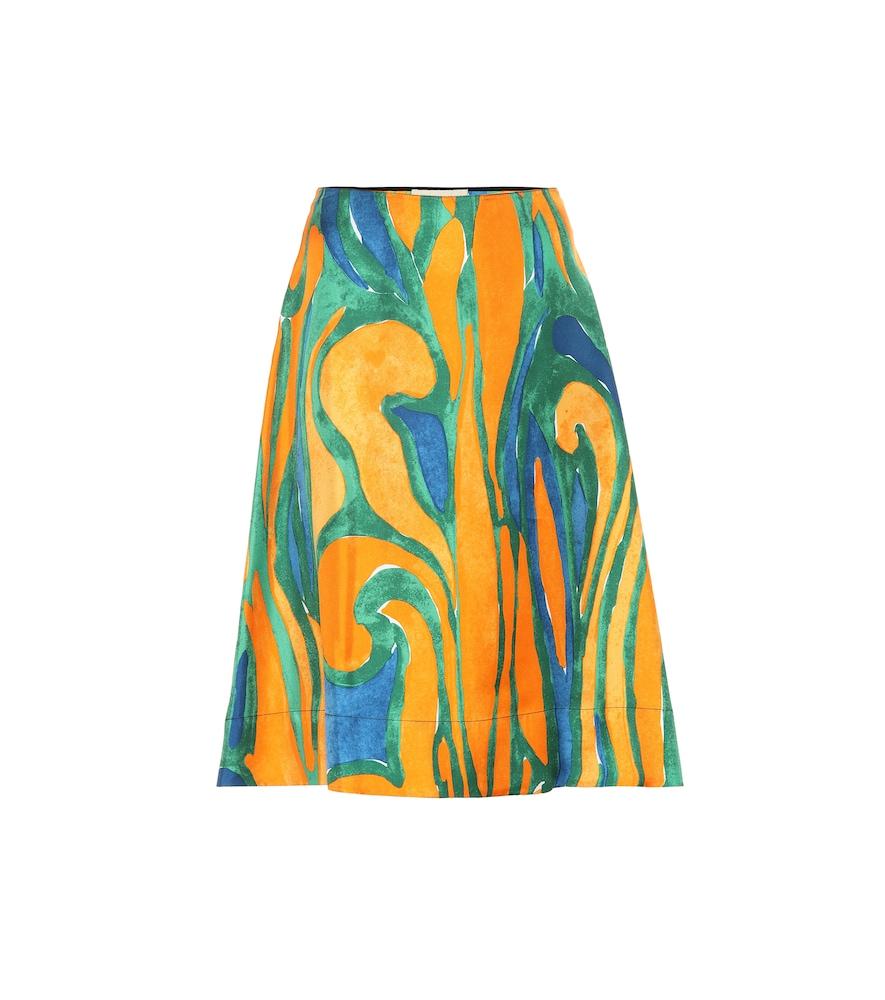 Marni Printed Silk Skirt In Multicoloured