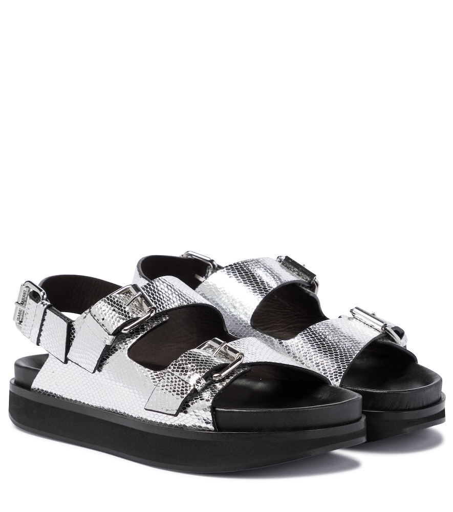 Ophie snake-effect leather sandals