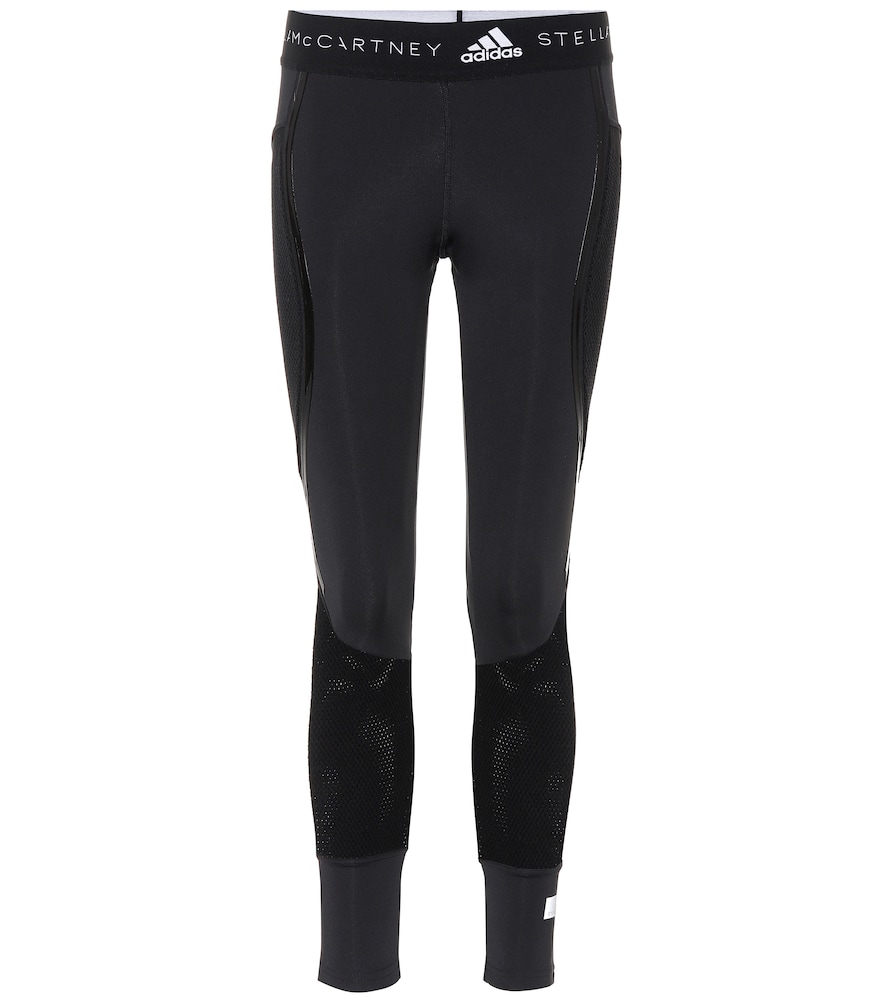 Run Ultra Flat Knit Mix Tights Cf3978, Black