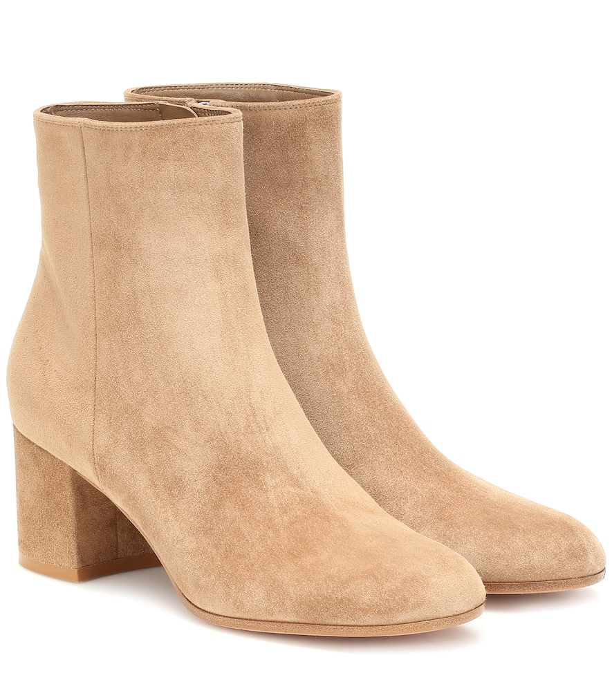 GIANVITO ROSSI   Margaux Suede Ankle Boots   Goxip