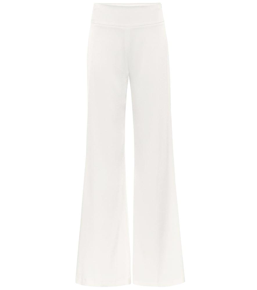 Pantalon de mariée ample en crêpe