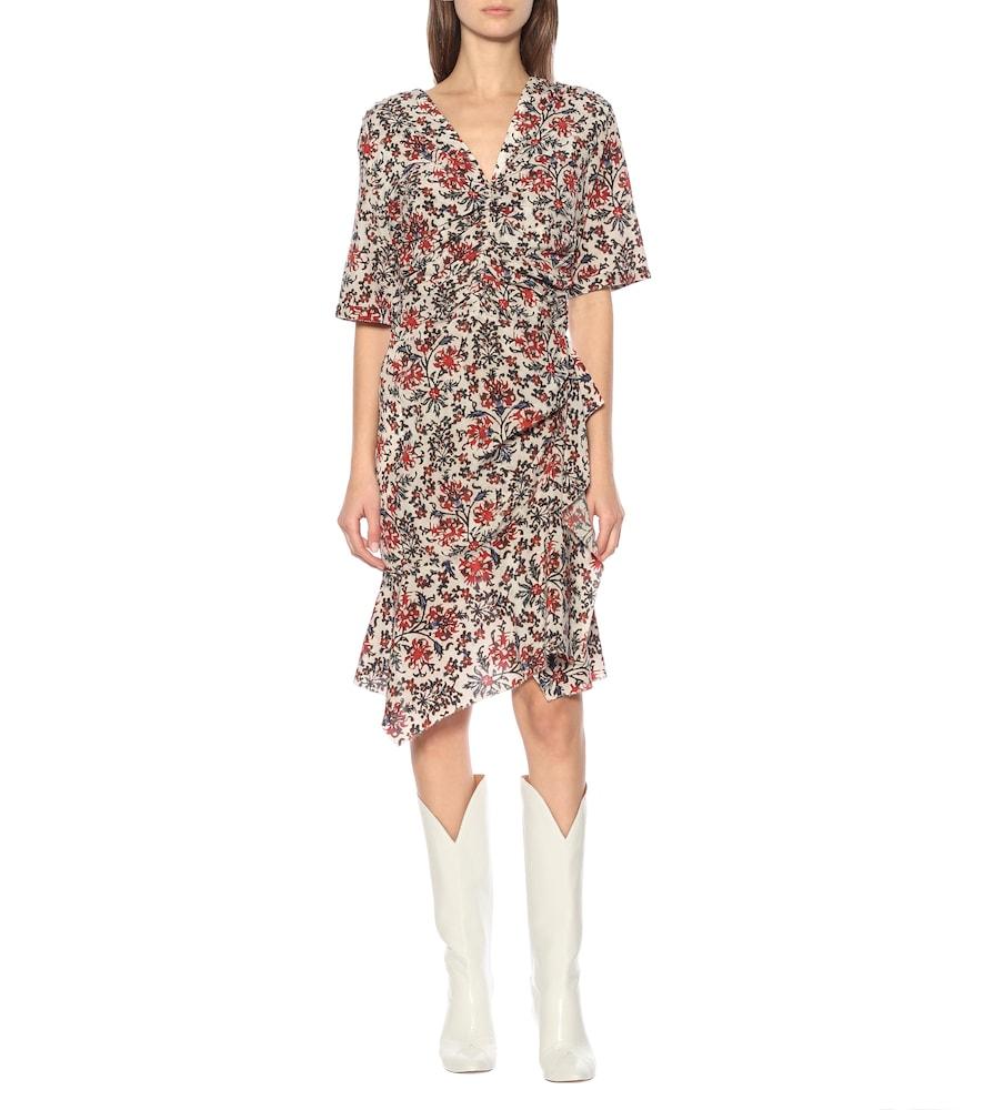 Arodie floral stretch-silk minidress by Isabel Marant